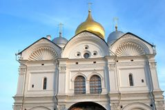 Archangels cathedral of Moscow Kremlin. Color photo. Royalty Free Stock Photography