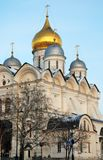 Archangels cathedral of Moscow Kremlin. Color photo. Royalty Free Stock Photo