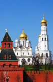 Archangels church and Ivan the Great Bell tower. Stock Images
