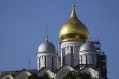 Archangels church of Moscow Kremlin. UNESCO World Heritage Site. Ivan Great Bell tower. Archangels church of Moscow Kremlin, a popular touristic landmark. UNESCO Stock Photo