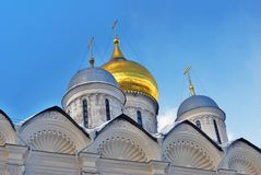 Archangels church in Moscow Kremlin. UNESCO World Heritage Site. View of the Archangels church in Moscow Kremlin, a popular touristic landmark. UNESCO World Stock Photos