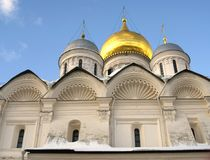 Archangels church in Moscow Kremlin. UNESCO World Heritage Site. View of the Archangels church in Moscow Kremlin, a popular touristic landmark. UNESCO World Stock Image