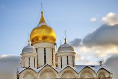 Archangels church in Moscow Kremlin. UNESCO World Heritage Site. View of the Archangels church in Moscow Kremlin, a popular touristic landmark. UNESCO World Stock Photo