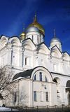 Archangels church in Moscow Kremlin. UNESCO World Heritage Site. View of the Archangels church in Moscow Kremlin, a popular touristic landmark. UNESCO World Royalty Free Stock Photo