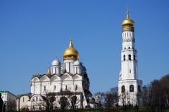 Archangels church in Moscow Kremlin. UNESCO World Heritage Site. Stock Photography
