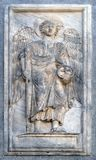 Archanioł, reliefowy szczegół St Mark ` s bazylika, Wenecja Fotografia Royalty Free
