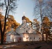 Archanioła Michael kościół w muzealnej nieruchomości Archangelskoye blisko Moskwa Zdjęcia Royalty Free