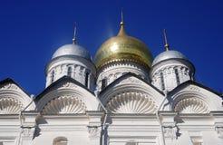 Archaniołowie kościelni w Moskwa Kremlin Unesco Światowego Dziedzictwa Miejsce Fotografia Stock
