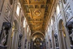 Archbasilica av helgonet John Lateran, Rome, Italien Arkivfoton