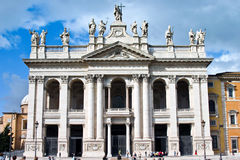 Archbasilica Church St. John Lateran/Laterno Rome Italy. The Papal Archbasilica of St. John Lateran in Rome, Italy stock image