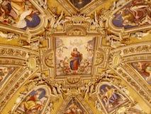 Archbasilica de St John Lateran - techo Imágenes de archivo libres de regalías