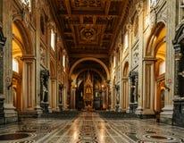 Archbasilica papal de St John à Rome, Italie images libres de droits