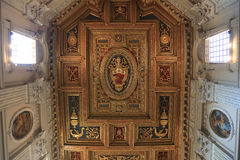 Archbasilica of St. John Lateran - San Giovanni in Laterano - ceiling, Rome, Italy Royalty Free Stock Photography