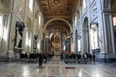 Archbasilica of St. John Lateran - San Giovanni in Laterano - interior, Rome, Italy Stock Image