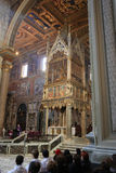 Archbasilica of St. John Lateran - San Giovanni in Laterano - interior, Rome, Italy Royalty Free Stock Photography