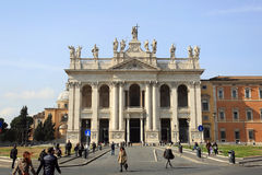 Archbasilica of St. John Lateran - San Giovanni in Laterano, Rome, Italy Stock Image