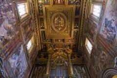 Archbasilica van Heilige John Lateran, Rome, Italië Stock Foto
