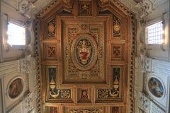 Archbasilica von St. John Lateran - San Giovanni in Laterano - Decke, Rom, Italien lizenzfreie stockfotografie