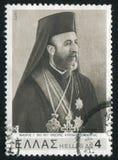 Archbishop archbishop. GREECE - CIRCA 1977: stamp printed by Greece, shows Makarios, archbishop, circa 1977 Stock Images