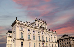 Archbishop Palace, famous building at the main entrance in The Prague Castle, Czech Republic Stock Photography