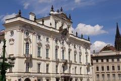 Archbishop Palace near Prague. Roman Catholic Archbishop Palace in Prague, Czech Republic. Hradcany distric Royalty Free Stock Photos