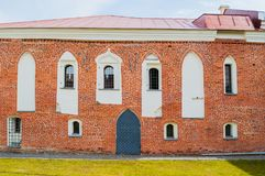 Archbishop`s palace, the Palace of facets museum in Veliky Novgorod, Russia. Veliky Novgorod,Russia - April 29,2018. Archbishop`s palace, the Palace of facets royalty free stock image