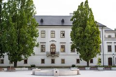 Archbishop`s Palace in Eger, Hungary. Archbishop`s Palace renovated in Eger, Hungary Stock Image