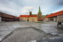 Archbishop`s Palace in Tronheim Stock Photo