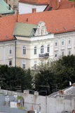 Archbishop`s Palace in Zagreb. The facade of the Archbishop`s Palace in Zagreb, Croatia Stock Images