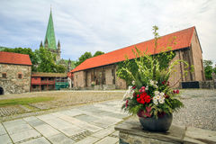 Archbishop`s yard in Trondheim, Norway Royalty Free Stock Photography