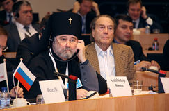 Archbishop Simon and count Sheremetjev. Royalty Free Stock Photos