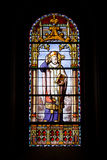 Archbishop on Stained Glass Window Stock Image