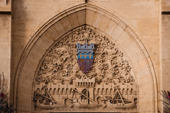 Archbishops` Palace. Coat of Arms. Narbonne. France Stock Photos