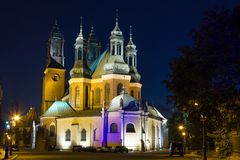 Archcathedral bazylika St. Peter i St. Paul. Poznański. Polska Obrazy Royalty Free