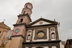 Archconfraternitykerk van de Aankondiging van de rozentuinamalfi Kust Stock Foto