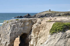 Arche on the coastline of Quiberon in France Stock Images