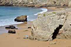 Arche on the coastline of Quiberon in France Royalty Free Stock Image