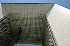 Arche de la Défense Paris. View of the Arche de la Défense from the ground up Stock Photography