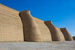 Arche et POI complexe Kolon, Boukhara, l'Ouzbékistan de forteresse Photos stock