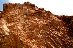 Archean rock folding - Structural geology Royalty Free Stock Photography