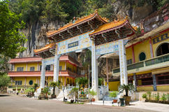 Archecture of Main Enterance of Sam Poh Tong, Ipoh. Sam Poh Tong is a famous cave temple located in Gunung Rapat, about 5km south of Ipoh Royalty Free Stock Photo