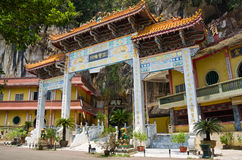 Archecture of Main Enterance of Sam Poh Tong, Ipoh. Sam Poh Tong is a famous cave temple located in Gunung Rapat, about 5km south of Ipoh Stock Photo