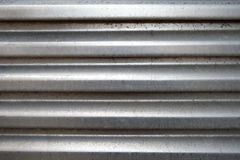 Arched aluminum surface Stock Photos