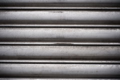 Arched  aluminum surface Royalty Free Stock Photography