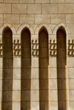 Arched Arabic architecture. A line of arched recesses set into an exterior wall are an example of typical Arabic architecture in Egypt Royalty Free Stock Photos