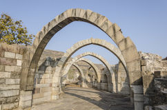 Arched Architecture. Marval monument on way to Machi. It shows how locking of stones techniques makes support less arches. Across these 7 arches it captures Royalty Free Stock Images