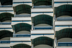 Arched balconies Royalty Free Stock Images