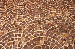 Arched brick background pattern Stock Photo
