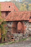 Arched brick entrance to the fortress in Vilnius Royalty Free Stock Photography