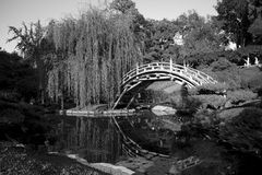 Arched Bridge. In the Huntington Library, you can find this traditional Japanese bridge overlooking a koi pond Royalty Free Stock Images